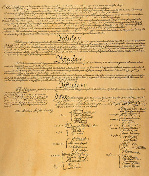 Photograph - The Constitution, 1787 by Granger