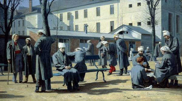 Wall Art - Photograph - The Convalescents, 1861 Oil On Canvas by Marie Francois Firmin-Girard