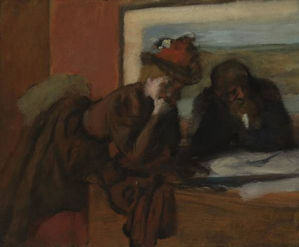 Communication Painting - The Conversation, 1885-95 by Edgar Degas