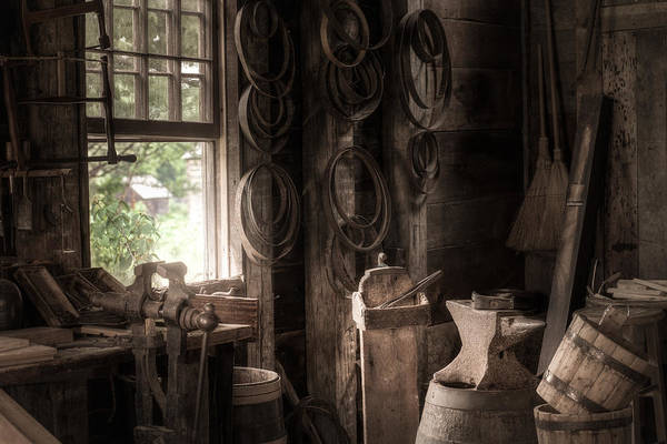 Photograph - The Coopers Window - A Glimpse Into The Artisans Workshop by Gary Heller