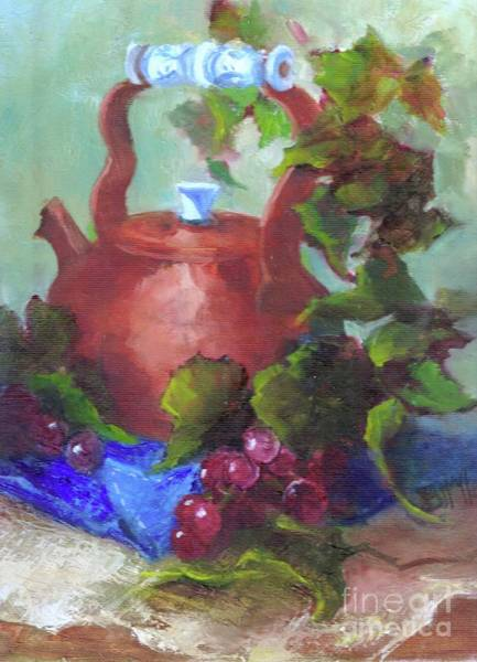 Gulf Shores Alabama Painting - The Copper Tea Pot by Joanne Hall