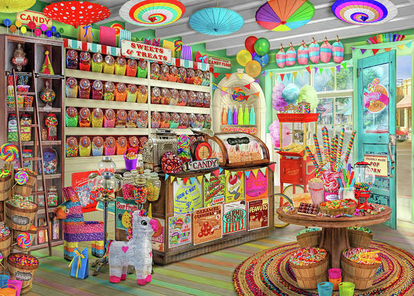Wall Art - Painting - The Corner Candy Store by MGL Meiklejohn Graphics Licensing