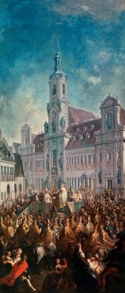 Townscape Wall Art - Photograph - The Coronation Of Empress Maria Theresa Of Austria 1717-80 In Pressburg, 1768 by Franz Messmer