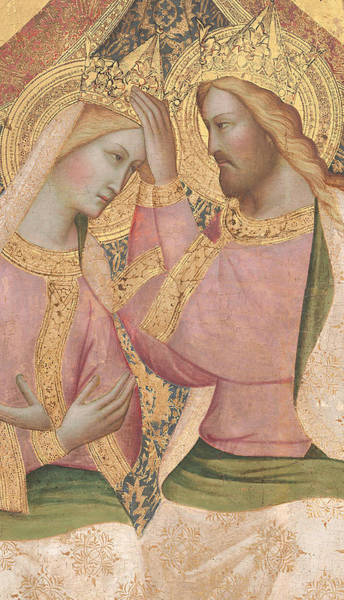 Close-up Painting - The Coronation Of The Virgin by Agnolo Gaddi