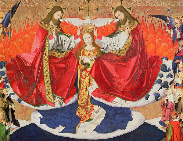 Wall Art - Painting - The Coronation Of The Virgin by Enguerrand Quarton