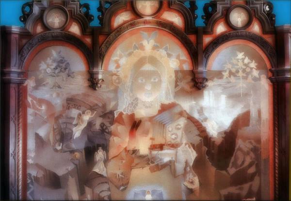 Painting - The Cosmic Christ B 1976 by Glenn Bautista
