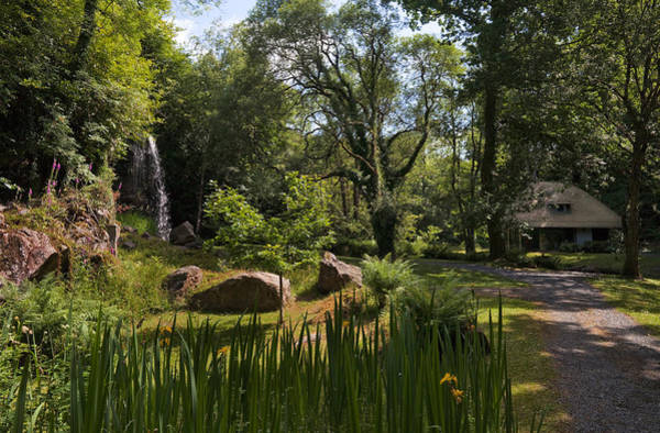 Jardin Photograph - The Cottage Orneeteahouse, Kilfane Glen by Panoramic Images