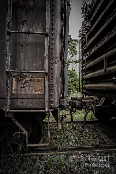 Railroad Car Photograph - The Coupling by Edward Fielding