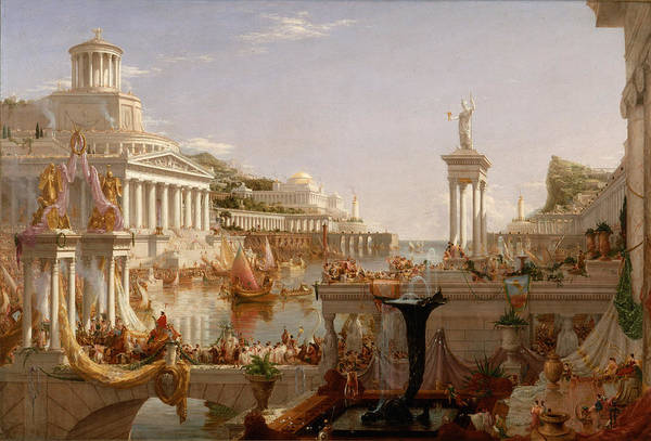 Painting - The Course Of Empire Consummation  by Thomas Cole