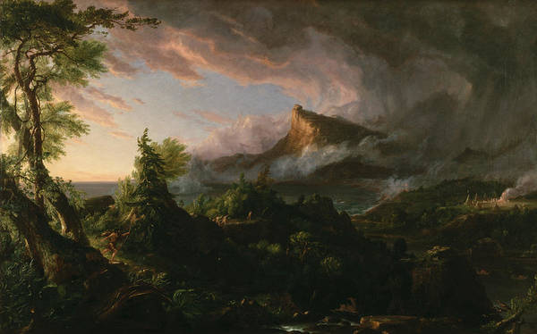 Painting - The Course Of Empire The Savage State  by Thomas Cole