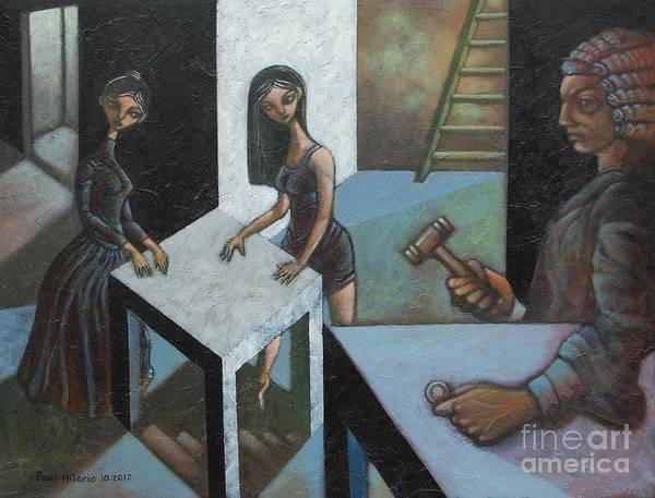 Judgement Wall Art - Painting - The Court Of O by Paul Hilario