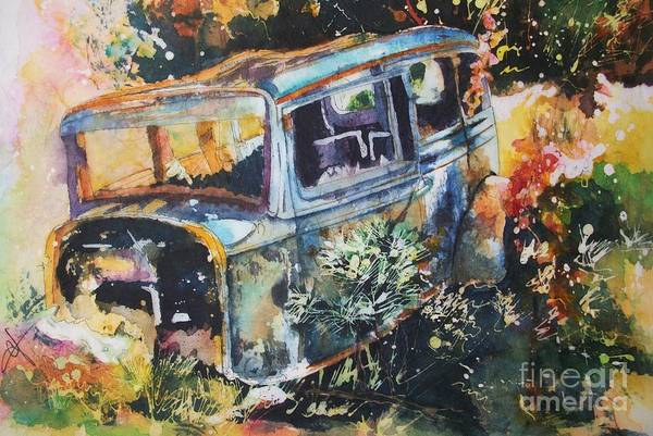 Painting - The Courting Car by Carol Losinski Naylor