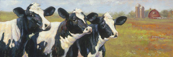 Dairy Painting - The Cow Girls by Tracie Thompson