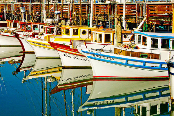 San Francisco Harbor Photograph - The Crab Fleet by Bill Gallagher