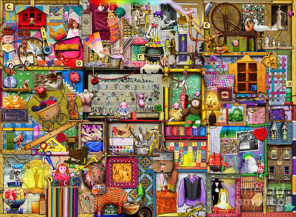 Cloth Digital Art - The Craft Cupboard by MGL Meiklejohn Graphics Licensing