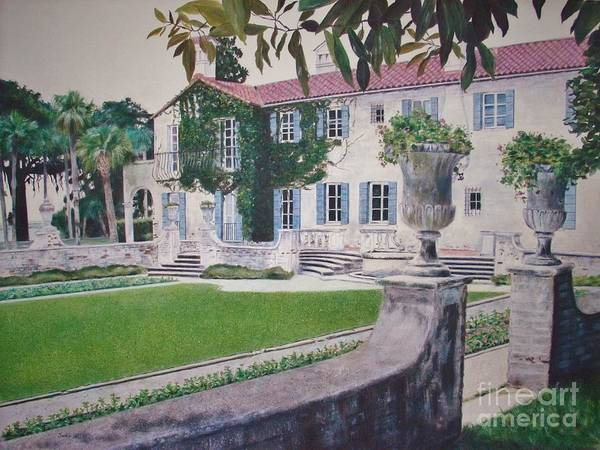 Jekyll Island Painting - The Crane Cottage At Jekyll Island Georgia by Jackie Hill
