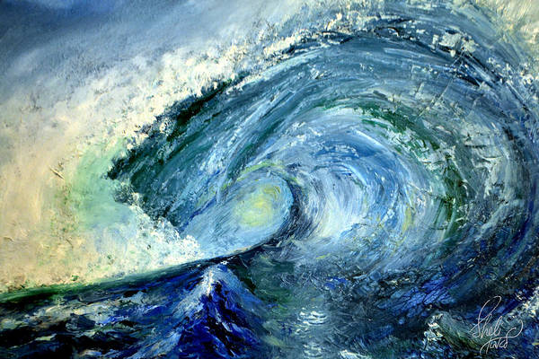 Cantrell Wall Art - Painting - The Crashing Wave by Carol Sheli Cantrell