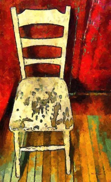Painting - The Cream-colored Chair by RC DeWinter