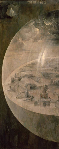 Orb Painting - The Creation Of The World by Hieronymus Bosch