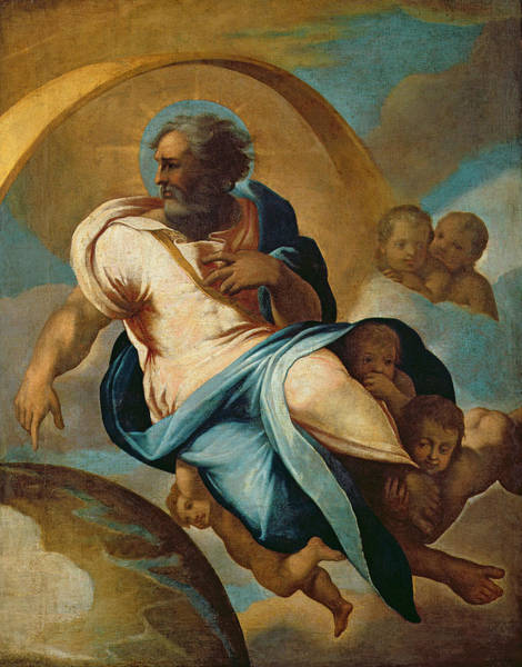 Genesis Photograph - The Creation Of The World Oil On Canvas by Eustache Le Sueur