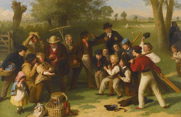 Painting - The Cricket Match by Celestial Images