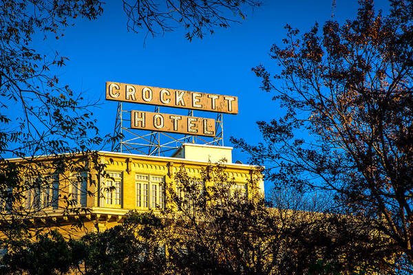 Photograph - The Crockett Hotel by Melinda Ledsome