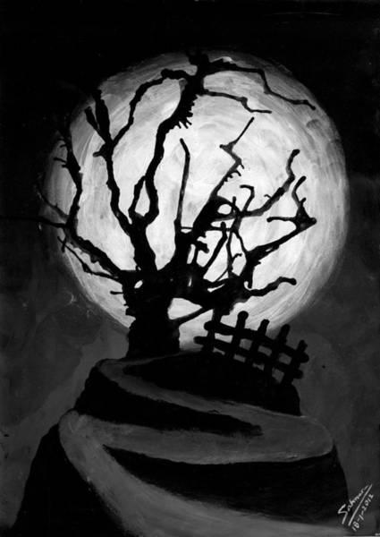 Wall Art - Painting - The Crooked Tree by Salman Ravish