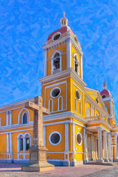 Wall Art - Photograph - The Cross Beside The Golden Cathedral - Granada by Mark Tisdale