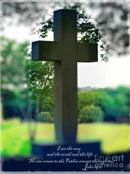 Wall Art - Photograph - The Cross Of Jesus - I Am The Way by Ella Kaye Dickey