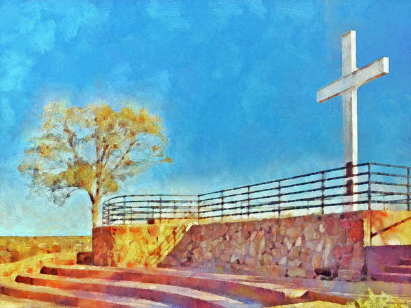 Digital Art - The Cross Of The Martyrs  Sante Fe  New Mexico  by Digital Photographic Arts