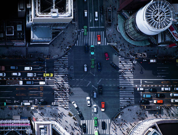 Ginza Wall Art - Photograph - The Crossing Way Of Ginza In Tokyo Japan by Michael H