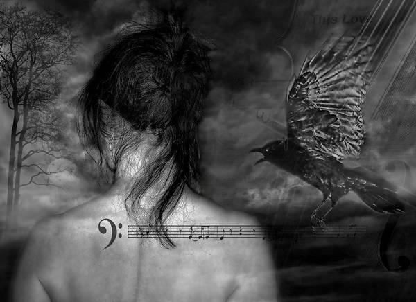 Soul Photograph - The Crow by Joachim G Pinkawa