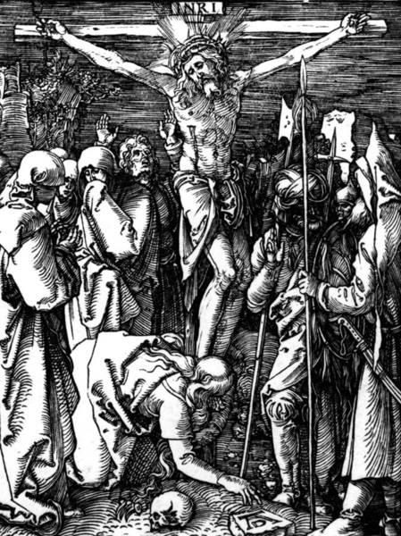 Gospel Drawing - The Crucifixion by Albrecht Durer