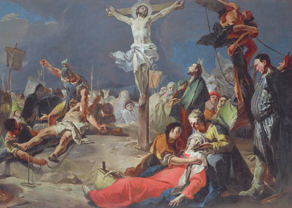 Faint Wall Art - Painting - The Crucifixion by Giovanni Battista Tiepolo