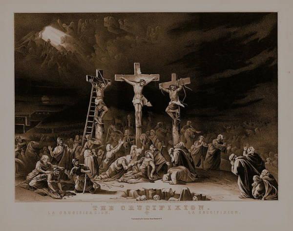 Easter Sunday Digital Art - The Crucifixion / La Crucificazion / La Crucifixion  by N Currier the Firm