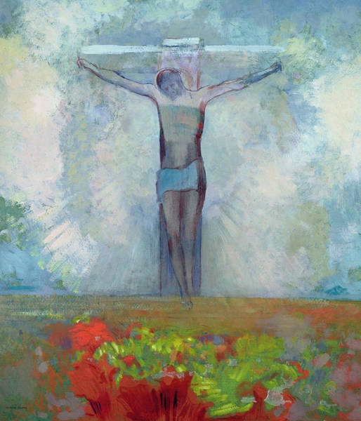 Church Of The Cross Painting - The Crucifixion by Odilon Redon