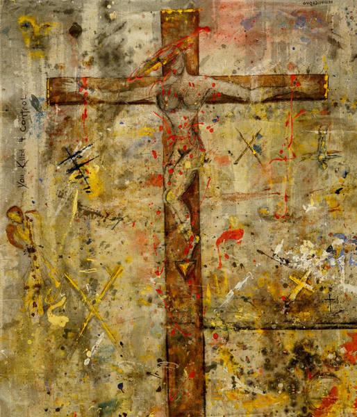 Painting - the Crucifying of the Sacred Feminine  by Giorgio Tuscani