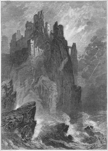 Crumble Drawing - The Crumbling Ruins Of A Mighty Castle by  Illustrated London News Ltd/Mar