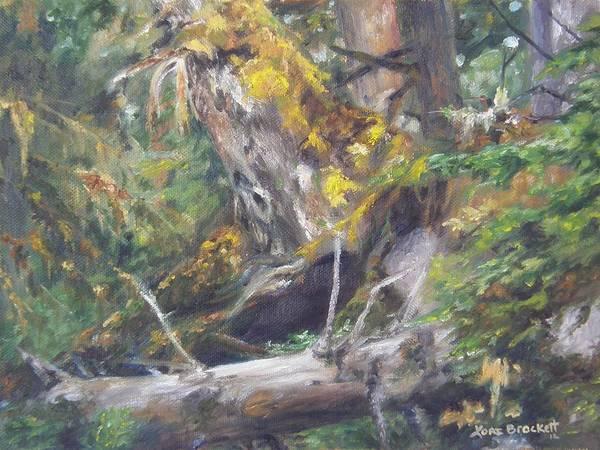 Painting - The Crying Log by Lori Brackett