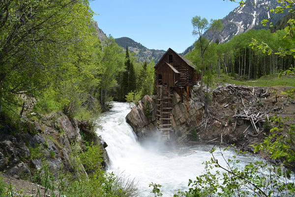 Art Print featuring the photograph The Crystal Mill by Kate Avery