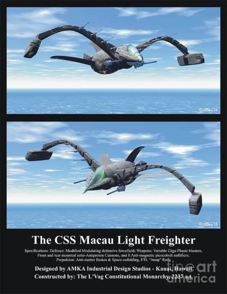 Digital Art - The Css Macau Light Freighter by Walter Neal