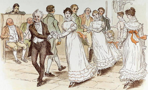 Traditional Dances Drawing - The Curmudgeons Christmas by English School