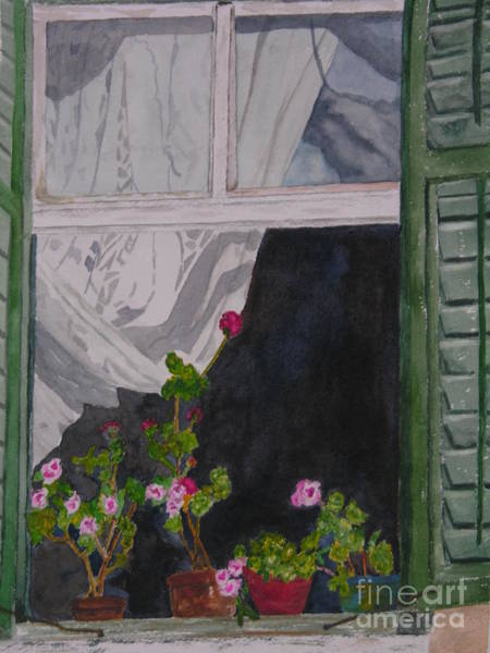 Painting - The Curtain by Peggy Dickerson
