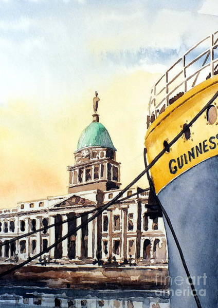 Painting - Dublin The Custom House by Val Byrne