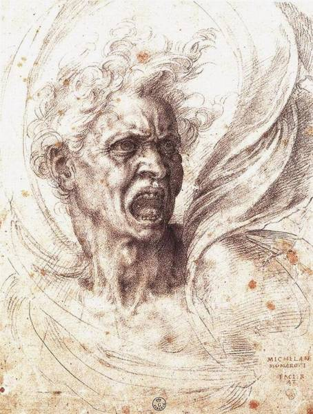 Galleria Painting - The Damned Soul by Michelangelo Buonarroti