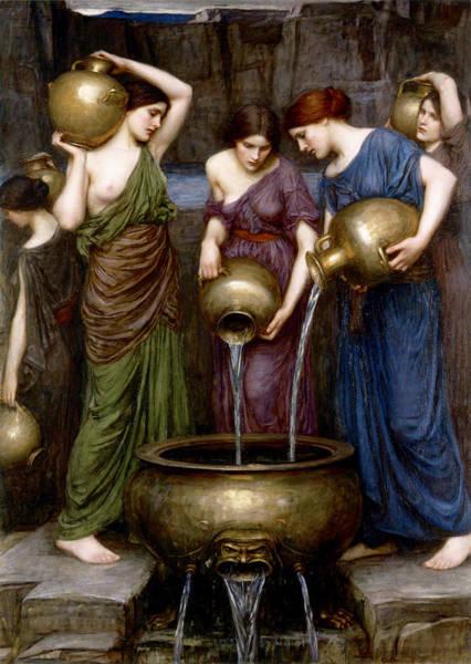 Boudoir Digital Art - The Danaides by John William Waterhouse