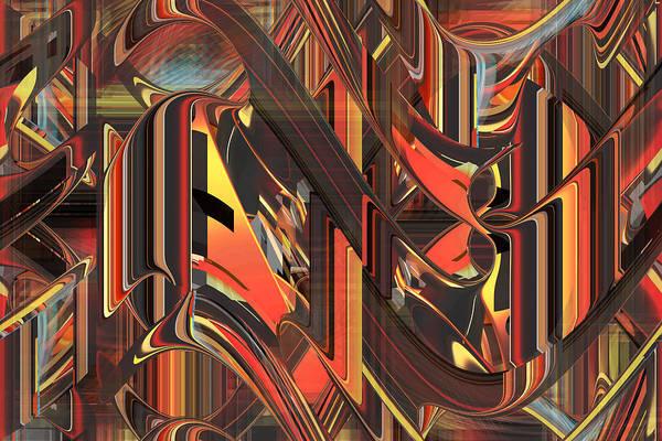 Digital Art - The Dance - Fine Art Digital Abstract Rd by rd Erickson