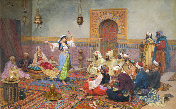 Belly Dancing Painting - The Dance by Giulio Rosati