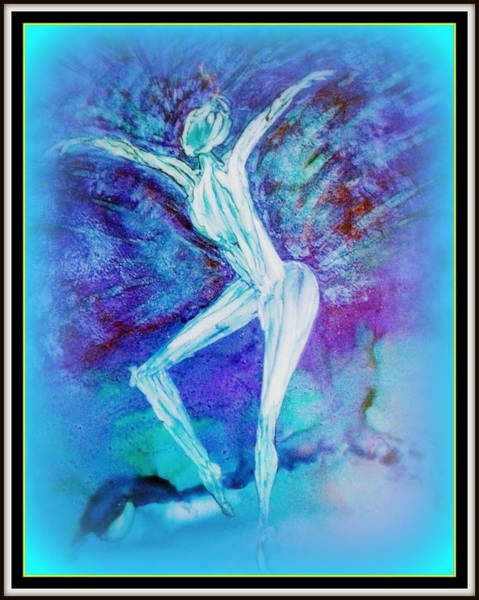 Painting - The Dance In Blue by Kelly Dallas