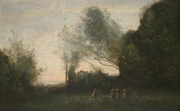 Mythological Photograph - The Dance Of The Nymphs, 1865-70 Oil On Canvas by Jean Baptiste Camille Corot